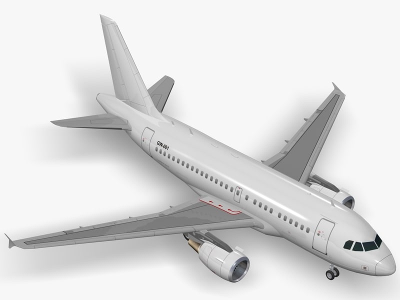 airbus commercial planes 3d model