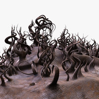 fantasy landscape 3d model