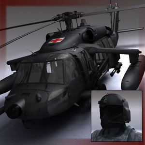 s-70 battlehawk uh60 blackhawk 3d model