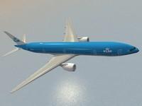 boeing 777-300 er klm 3d model