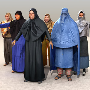 3d arab afghani pack model