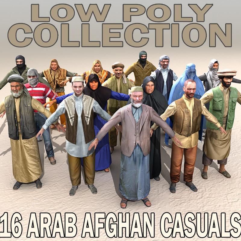 3d arab casuals