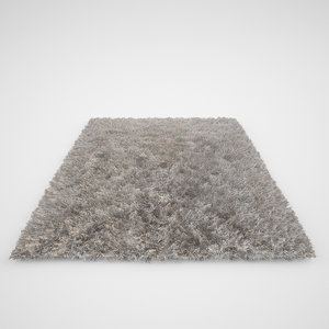3d model realistic carpet rug fur