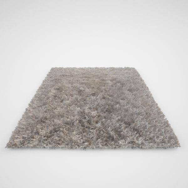 3d model realistic carpet rug fur