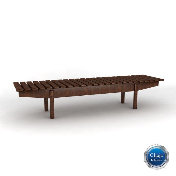 bench chair 3d model