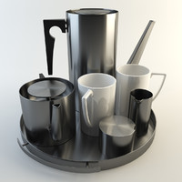 Arne Jacobson Tea & Coffee Kitchen Stainless Steel Props