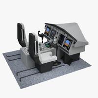 3d model of aircraft cockpit