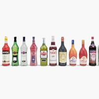 3dsmax 20 aperitif bottles