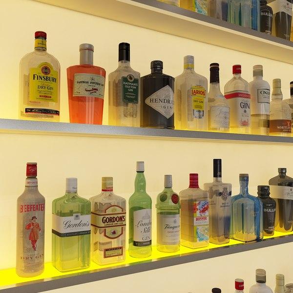 max 20 liquor bottles -