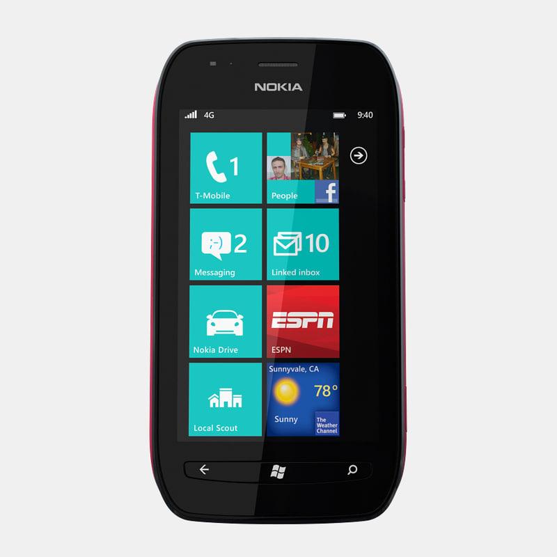 3d model nokia lumia 710