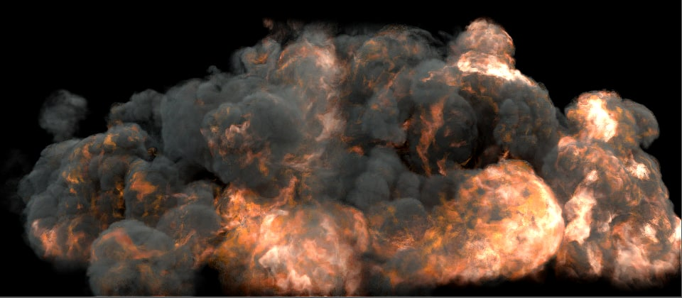 simulation fumefx explosion 3d max