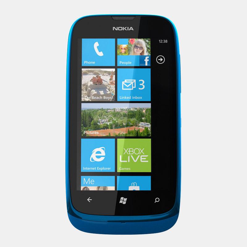 nokia lumia 610 3d 3ds
