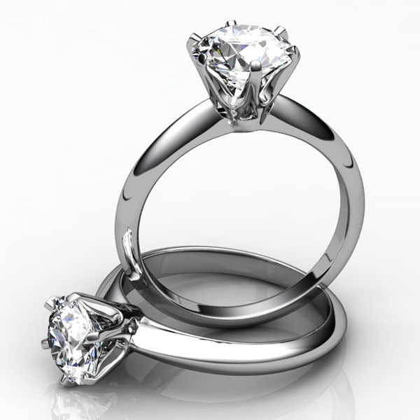 2 engagement rings 3d obj