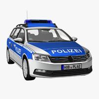 passat variant 2012 police 3d model