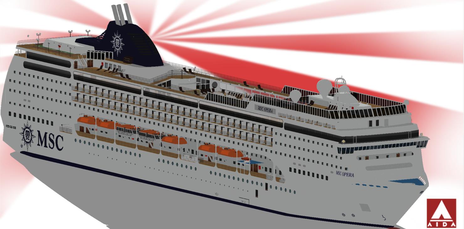 msc cruises opera 3d 3ds