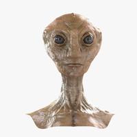 alien bust 3d model
