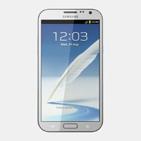 samsung galaxy note ii 3d model