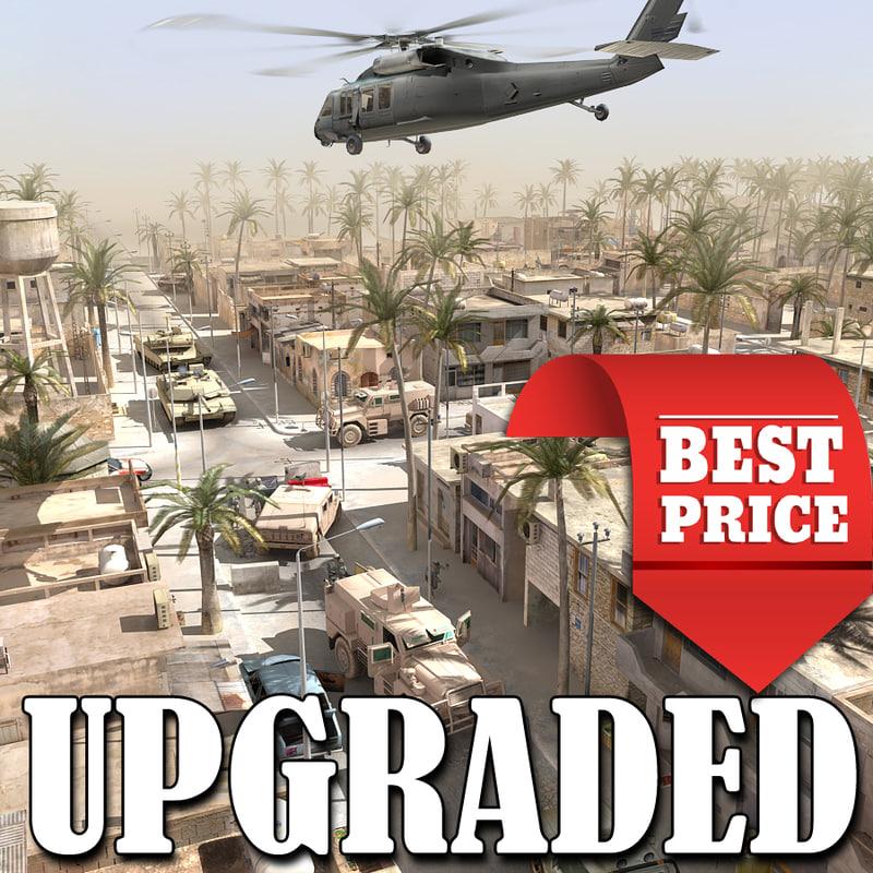 arab town war scenario 3d max