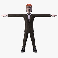 3d cartoon man character model