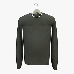 green jumper coat hanger 3d 3ds