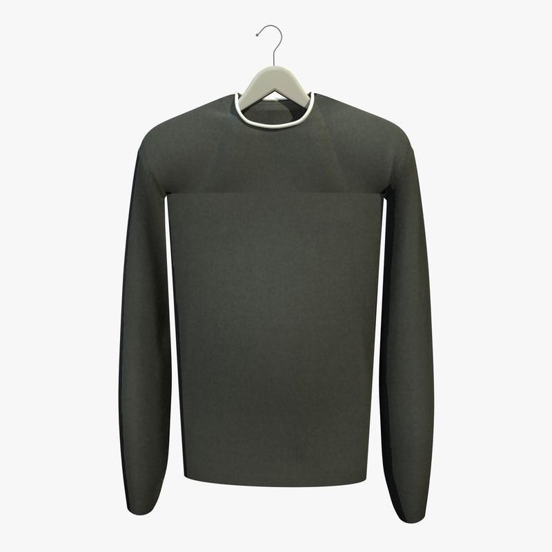 green jumper coat hanger 3d 3ds