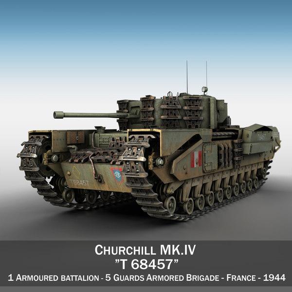 british churchill mk iv 3d 3ds