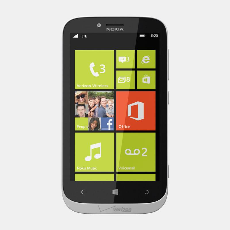 3d nokia lumia 822 mobile phone