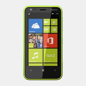 nokia lumia 620 3d model