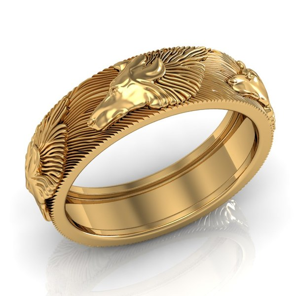 3ds max wolf ring