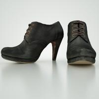 ankle boots 3d obj