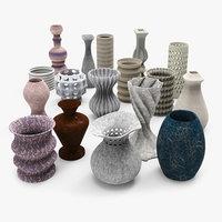 free vases architectural props 3d model