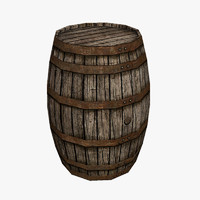 Wooden Barrel Old