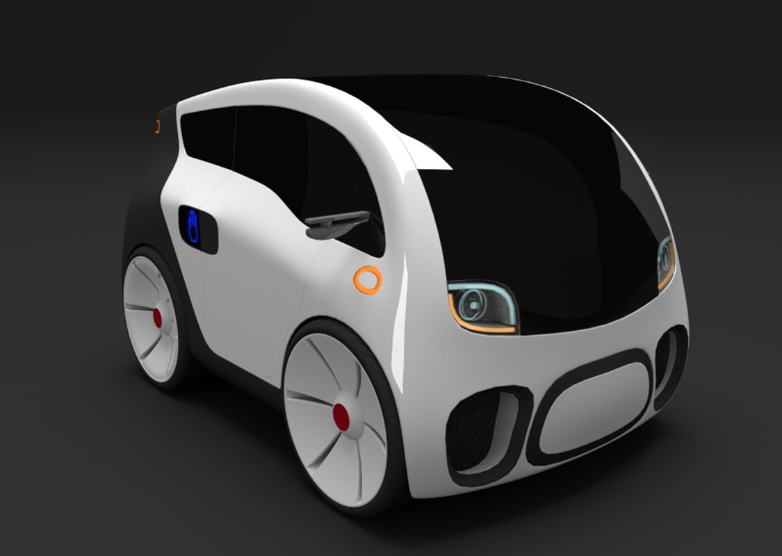 3d electric concept car 1