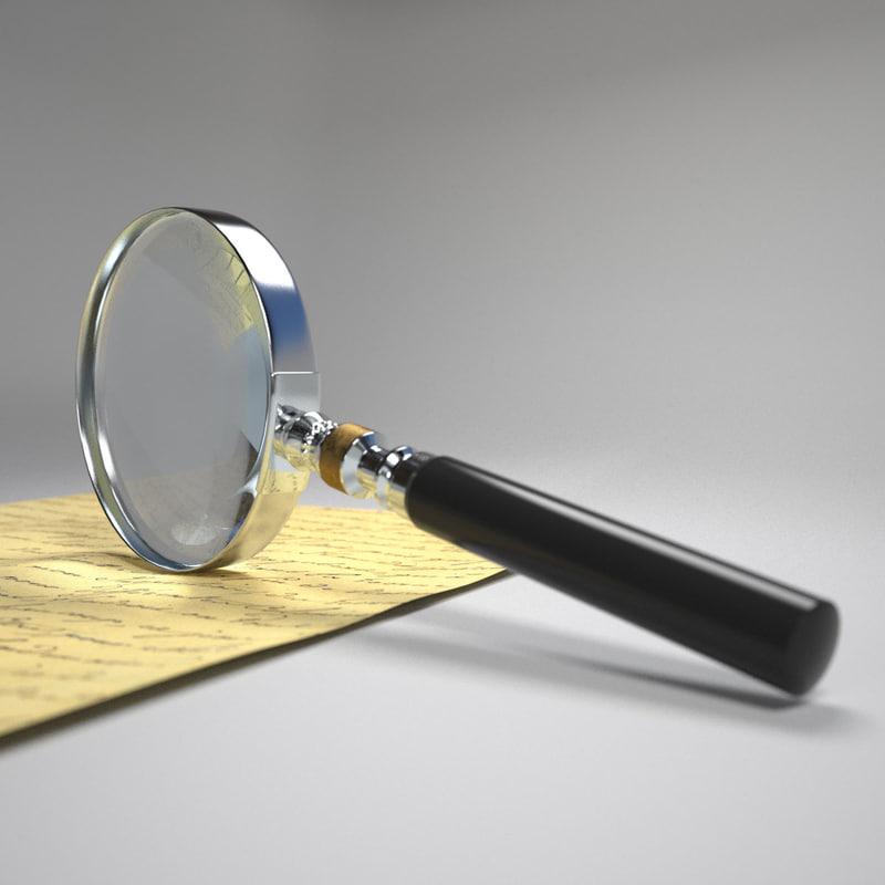 magnifying glass 3d model
