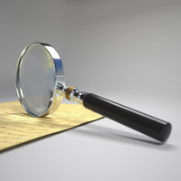 magnifying glass 3d model