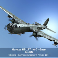 3d heinkel he-177 a-5 -