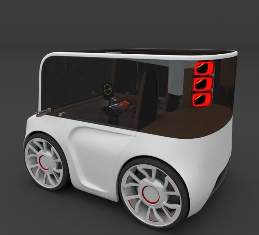3d model of electric car interior