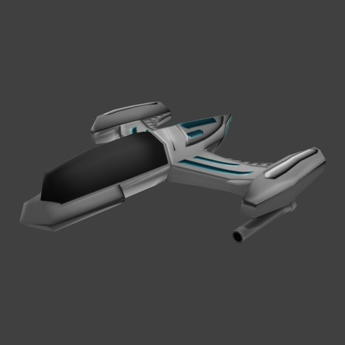 3d model fi spaceship space