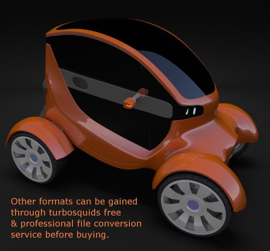 3d electric concept car model