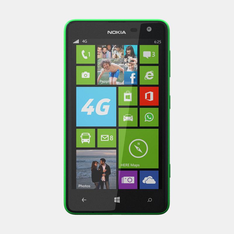 3d model nokia lumia 625 mobile phone