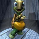 3ds cartoon turtle rigged