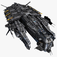 scifi destroyer 3d max
