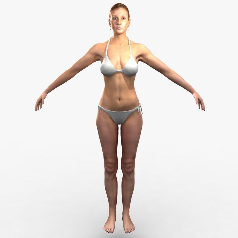 obj cammie realistic female character