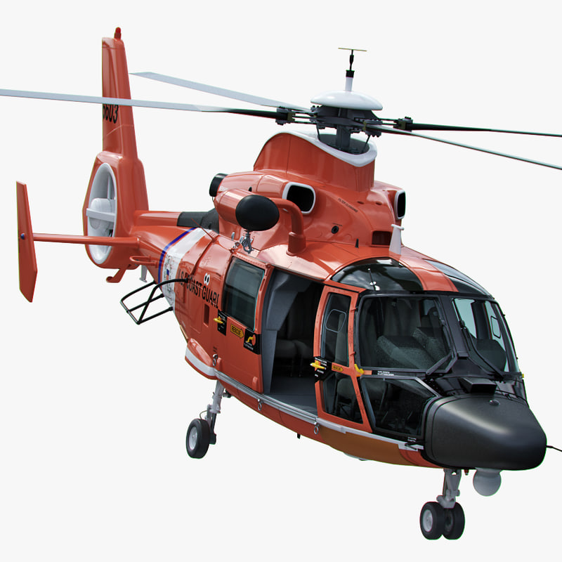 3d uscg mh-65 dolphin helicopter model