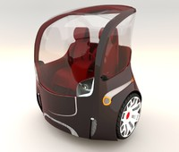 wheeled concept car 3d model