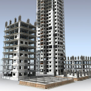 3d buildings construction model