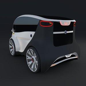 3d model electric concept car