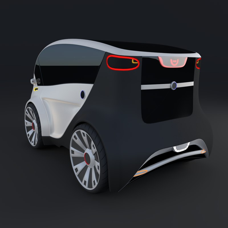 3d model electric concept car