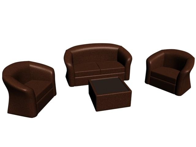 3d model brown salon
