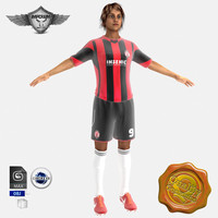 3d female soccer player model